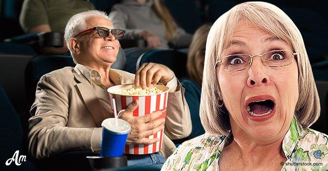 Bauer nimmt seinen Hahn mit ins Kino