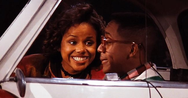 """Late actress Michelle Thomas and Jaleel White on the set of """"Family Matters""""   Photo: Getty Images"""