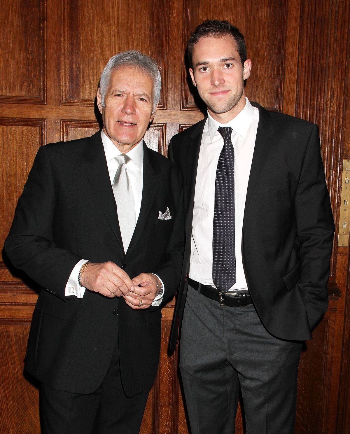 Alex and Matthew Trebek atthe 11th annual Giants of Broadcasting Honorson October 16, 2013, in New York City   Photo:Laura Cavanaugh/FilmMagic/Getty Images