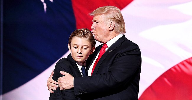 Donald Trump Reveals at a Las Vegas Rally That His Son Barron, 13, Is a Computer Genius Who's Extremely Tall