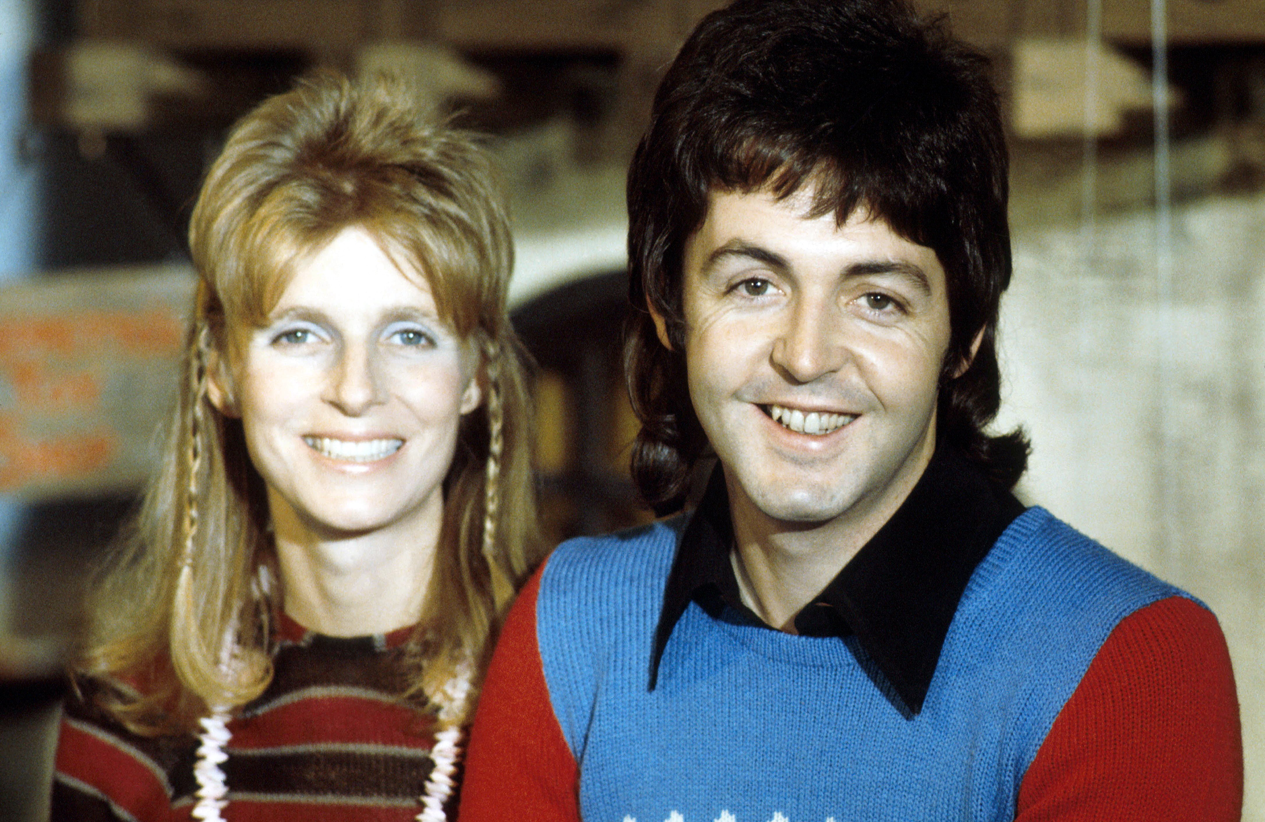 Linda McCartney (1941 - 1998) and husband Paul McCartney beaming in a photo captured in 1973   Photo: Getty Images