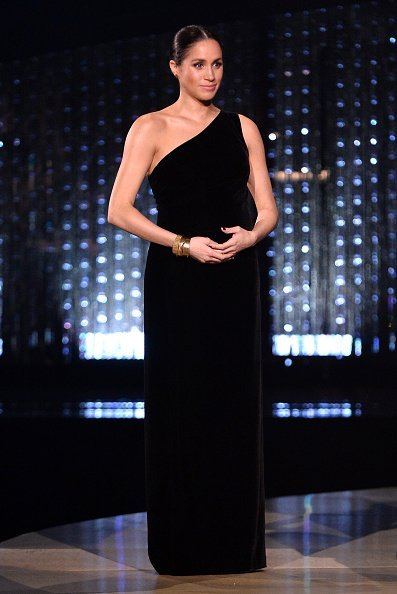 Meghan, Duchess of Sussex on stage during The Fashion Awards 2018  in London, England. | Photo:  Getty Images