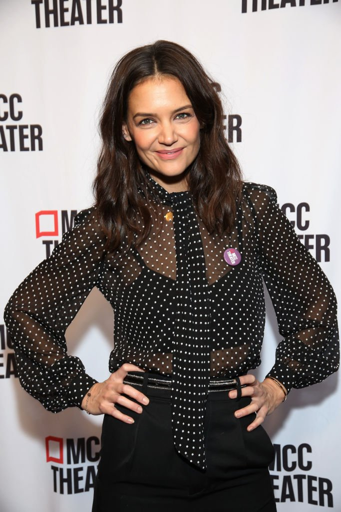 """Katie Holmes attends MCC Theater's Inaugural All-Star """"Let's Play! Celebrity Game Night"""" at the Garage. 