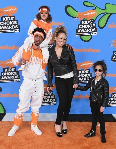 Nick Cannon and Mariah Carey with Moroccan Cannon and Monroe Cannon attend Nickelodeon's 2018 Kids' Choice Awards on March 24, 2018 | Photo: Getty Images