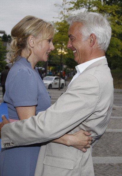 Dana Golombek und Christoph M. Ohrt, Produzentenallianz-Party, 2012, Berlin | Quelle: Getty Images
