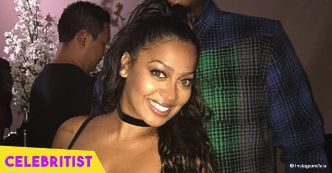 La La Anthony rocks tight one-shoulder jumpsuit posing with Robin Roberts on her birthday morning