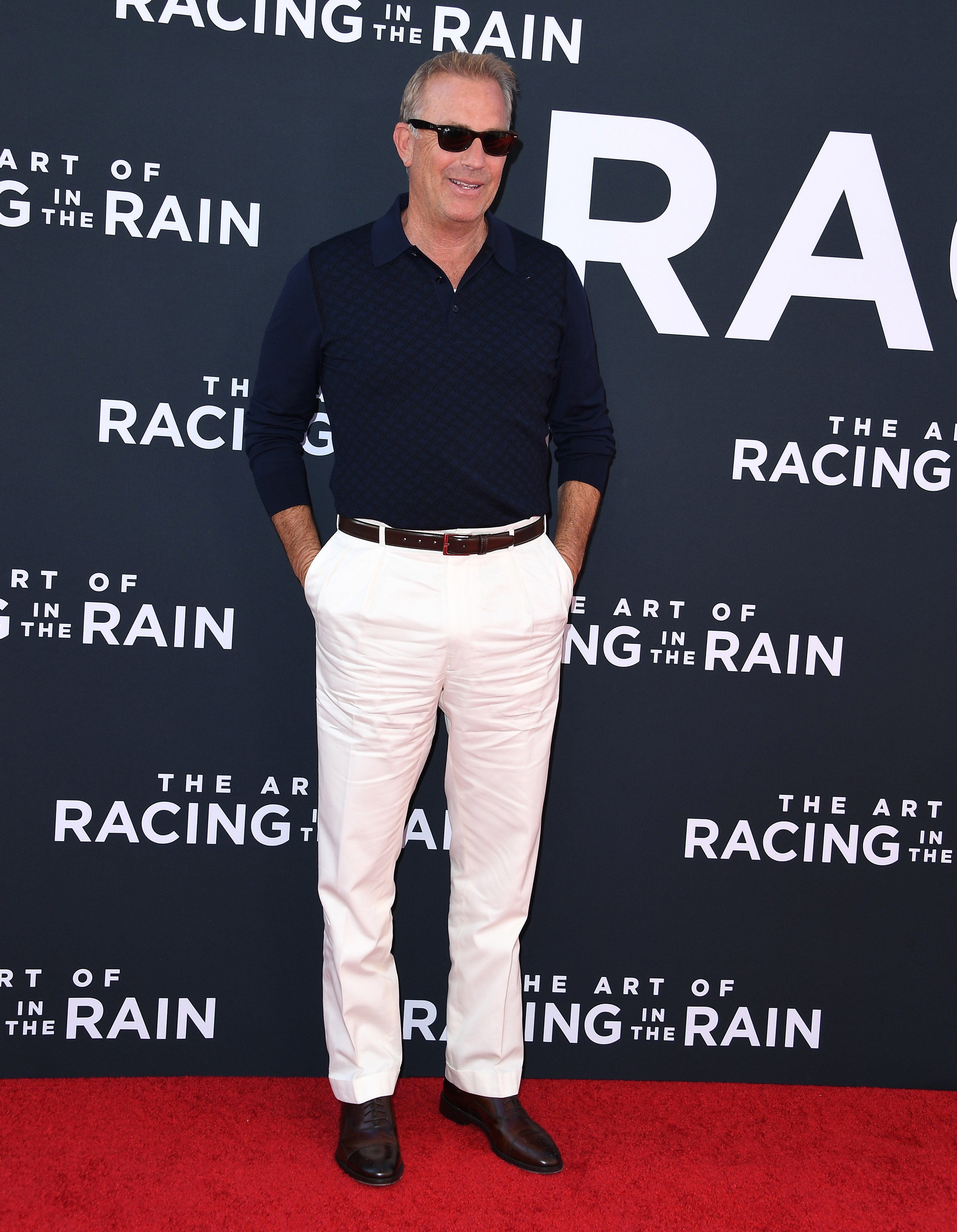 """Kevin Costner at the Premiere Of 20th Century Fox's """"The Art Of Racing In The Rain"""" at El Capitan Theatre on August 01, 2019 in Los Angeles, California.   Source: Getty Images"""