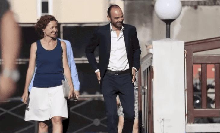 Édouard Phiilppe et sa compagne Edith Chabre. l Source : YouTube/Nouvelles Tendances