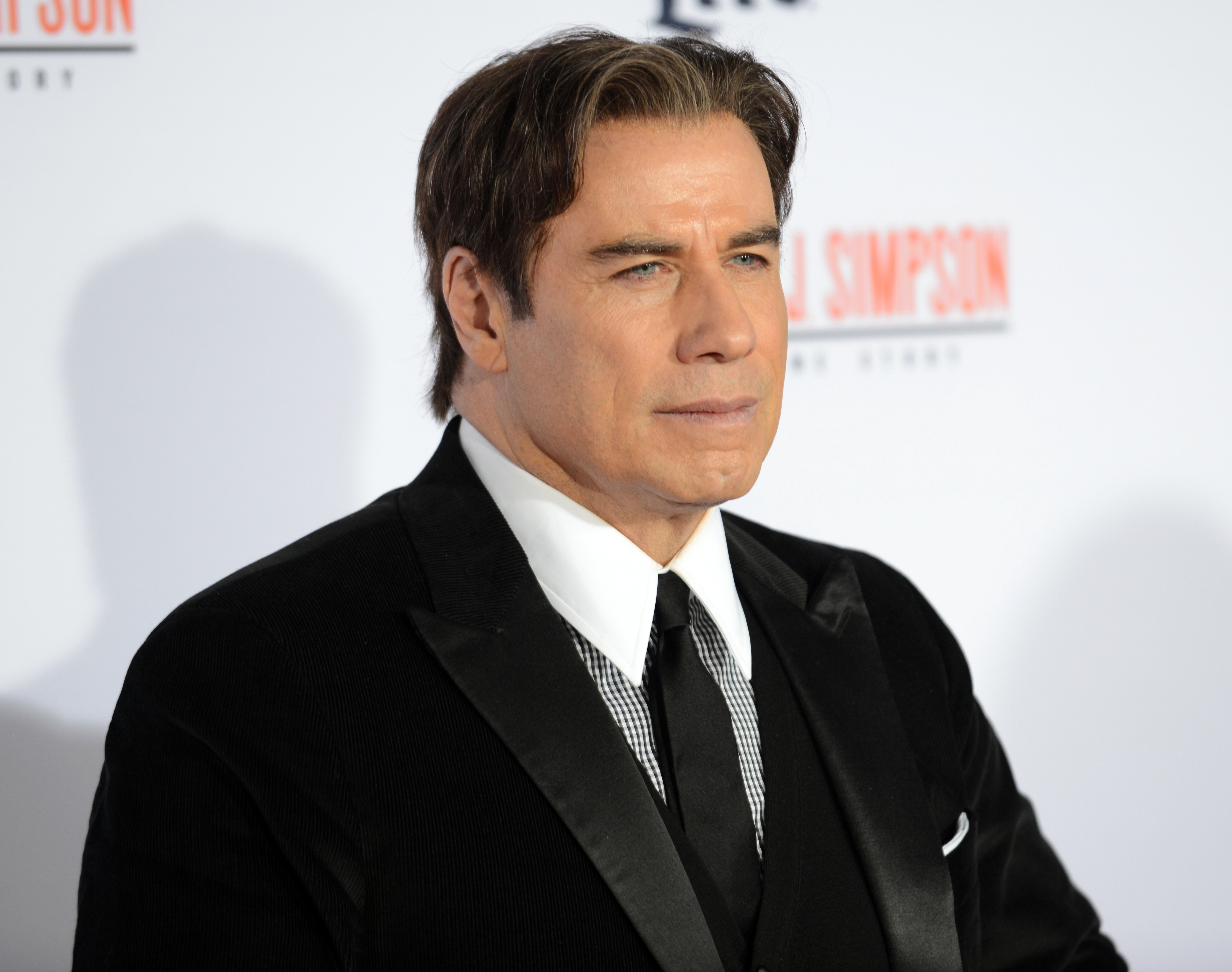 """John Travolta at the premiere of """"FX's """"American Crime Story - The People V. O.J. Simpson"""" held at Westwood Village Theatre on January 27, 2016 in Westwood, California 