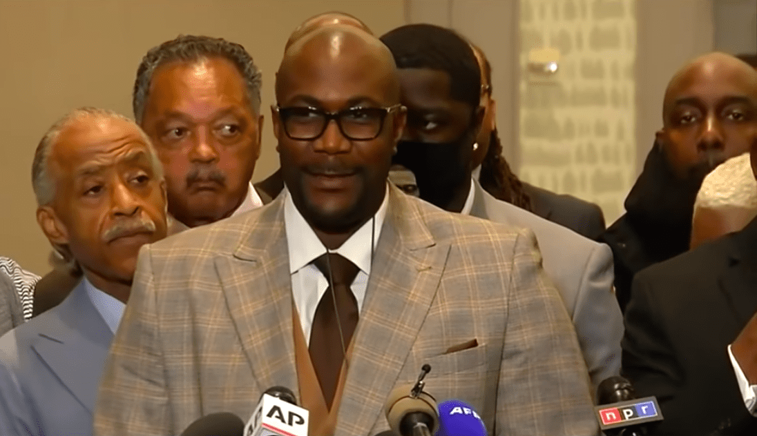 Screenshot of George Floyd's brother speaking at a news conference. | Source: YouTube/  CBS News