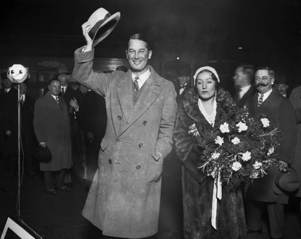 French actor and singer Maurice Chevalier (1888 - 1972) with his wife, actress Yvonne Vallée (1899 - 1996) in London, 1930.  | Getty Images