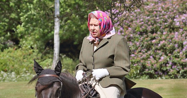 Queen Elizabeth Rides Her Pony in Windsor Home Park during Lockdown – See the Rare Photo