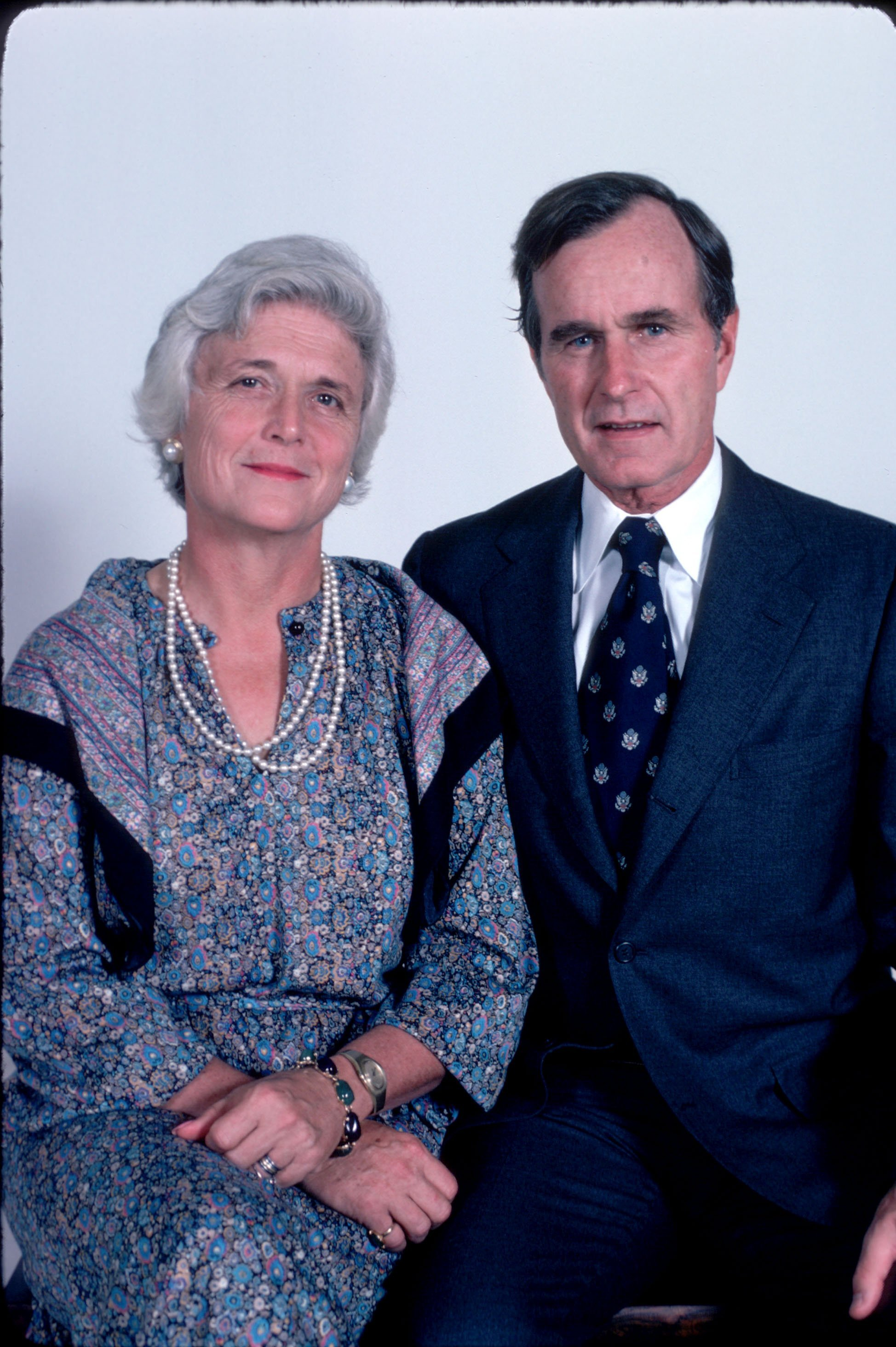 Barbara and George Bush. I Image: Getty Images.