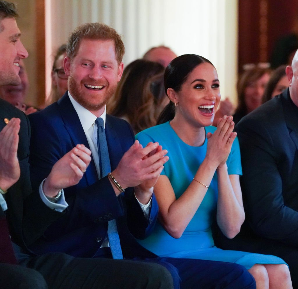 Prince Harry and Meghan Markle cheer on a wedding proposal as they attend the annual Endeavor Fund Awards at Mansion House on March 5, 2020 in London, England | Photo: Getty Images