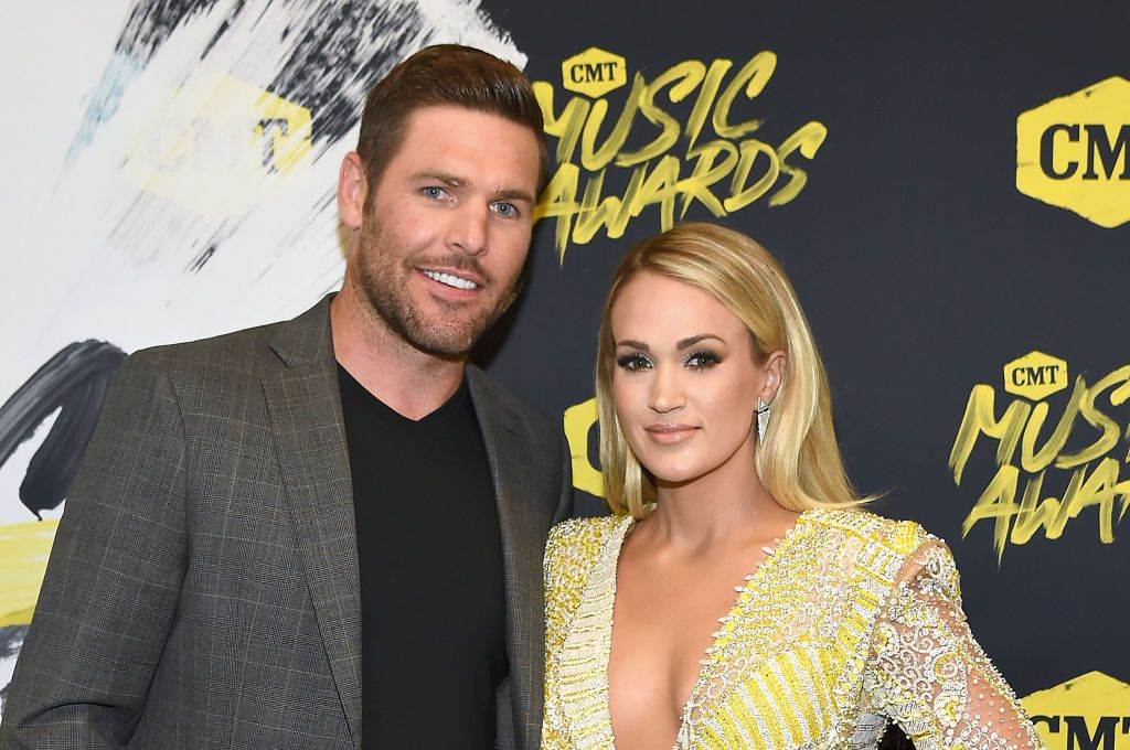 Mike Fisher and Carrie Underwood at the 2018 CMT Music Awards at Bridgestone Arena on June 6, 2018. | Photo: Getty Images