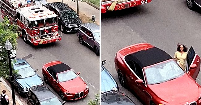 Fire Truck Is Blocked by Red BMW: Owner Was Reportedly Shopping
