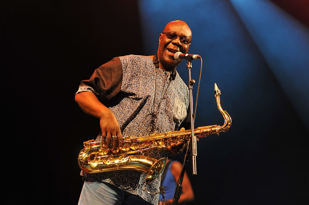 Manu Dibango performing at the Woman Festival in the UK in July 2014. | Photo: Getty Images