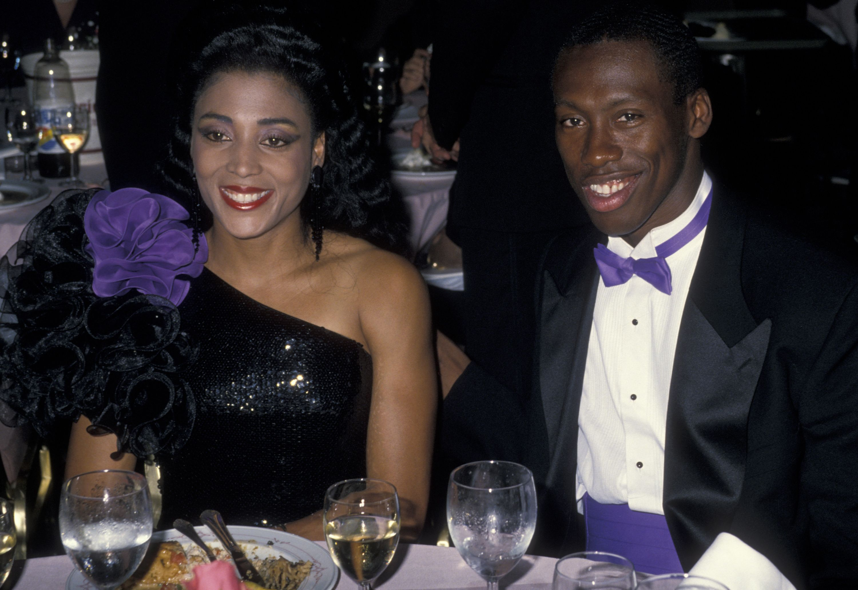 Athletes Florence Griffith-Joyner and Al Joyner at the Annual Woman's Sports Foundation Awards on October 17, 1988 in New York City.    Photo: Getty Images