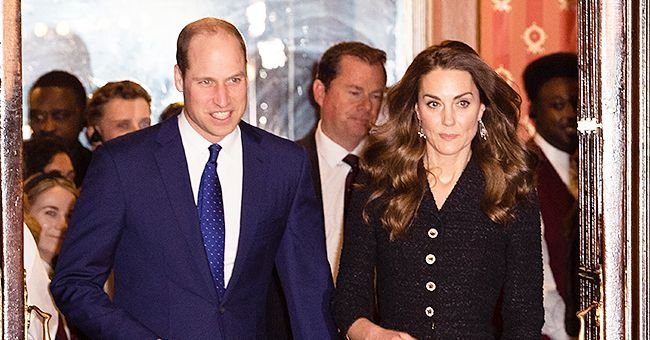 Duchess Kate Dazzles in Black Tweed Dress & Sparkly Heels Attending a Special Performance of 'Dear Evan Hansen' with Prince William