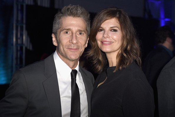 "Actors Leland Orser and Jeanne Tripplehorn attend EPIX ""Berlin Station"" LA premiere at Milk Studios on September 29, 2016, in Los Angeles, California. 