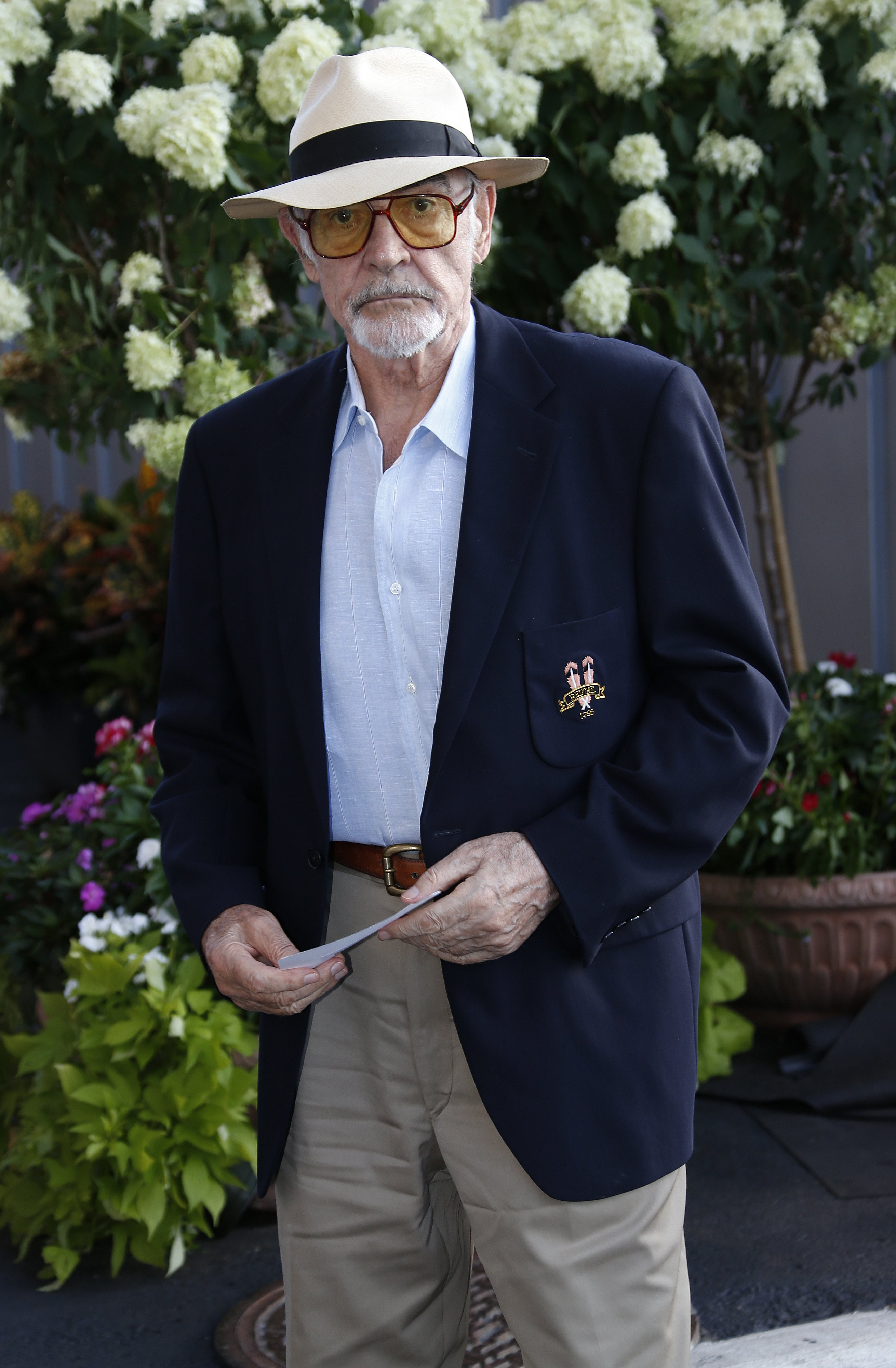 Sean Connery attends day twelve of the 2015 US Open on September 11, 2015, at Queens borough of New York City. | Source: Getty Images