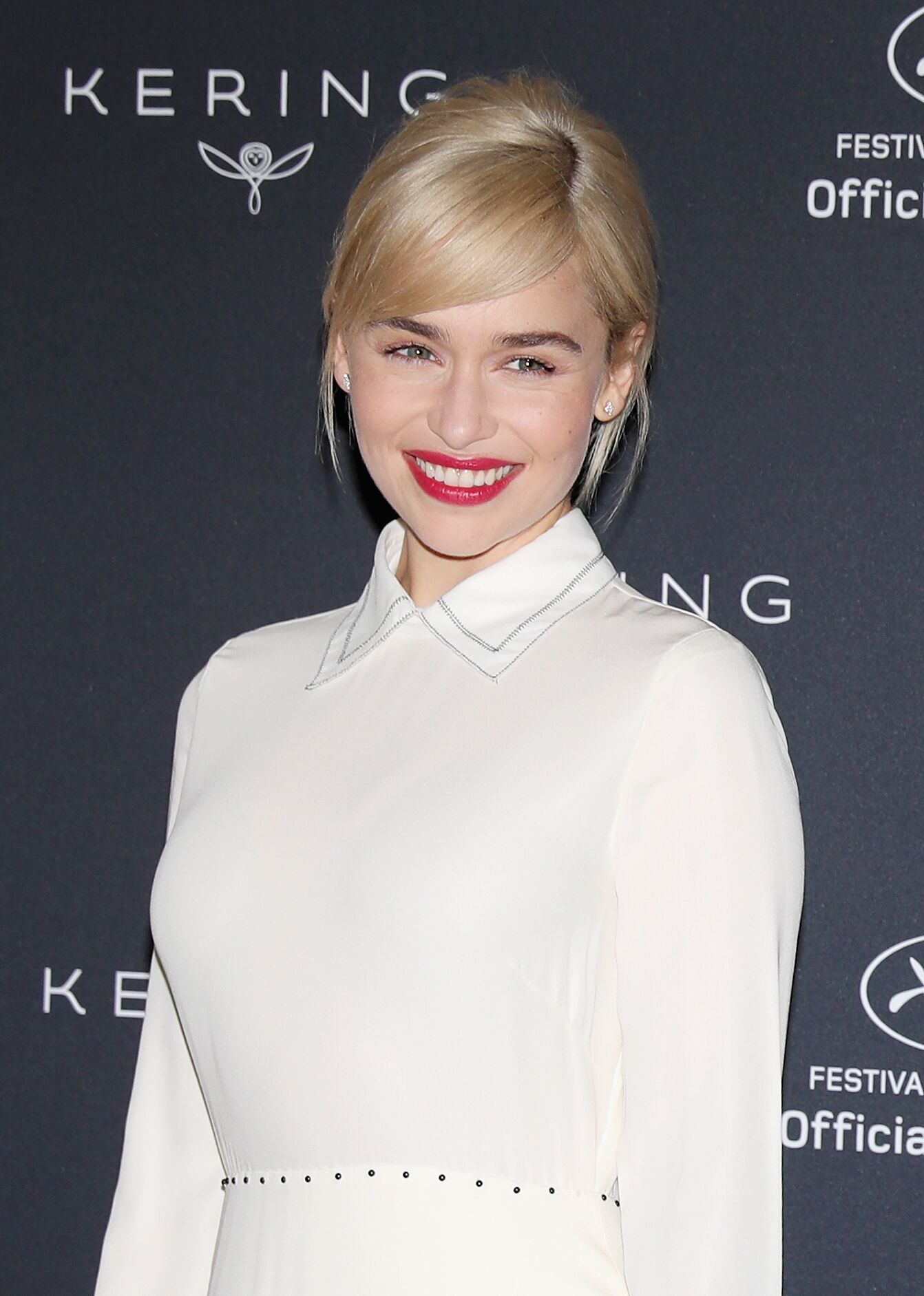 Emilia Clarke attends the Kering Women In Motion photocall. | Source: Getty Images