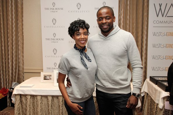 Jazmyn Simon (L) and Dule Hill attend the HBO LUXURY LOUNGE presented by ANCESTRY on January 6, 2018, in Beverly Hills, California. | Source: Getty Images.