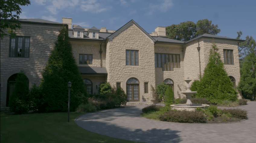 One of the views of the four-sided mansion at Tyler Perry Studios | Source: YouTube/Architectural Digest