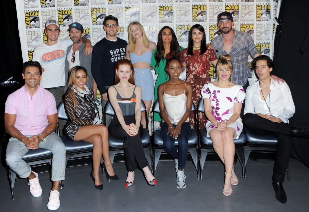 "The cast of ""Riverdale"" attend the ""Riverdale"" special video presentation and Q&A during Comic-Con International 2018 at San Diego Convention Center. 