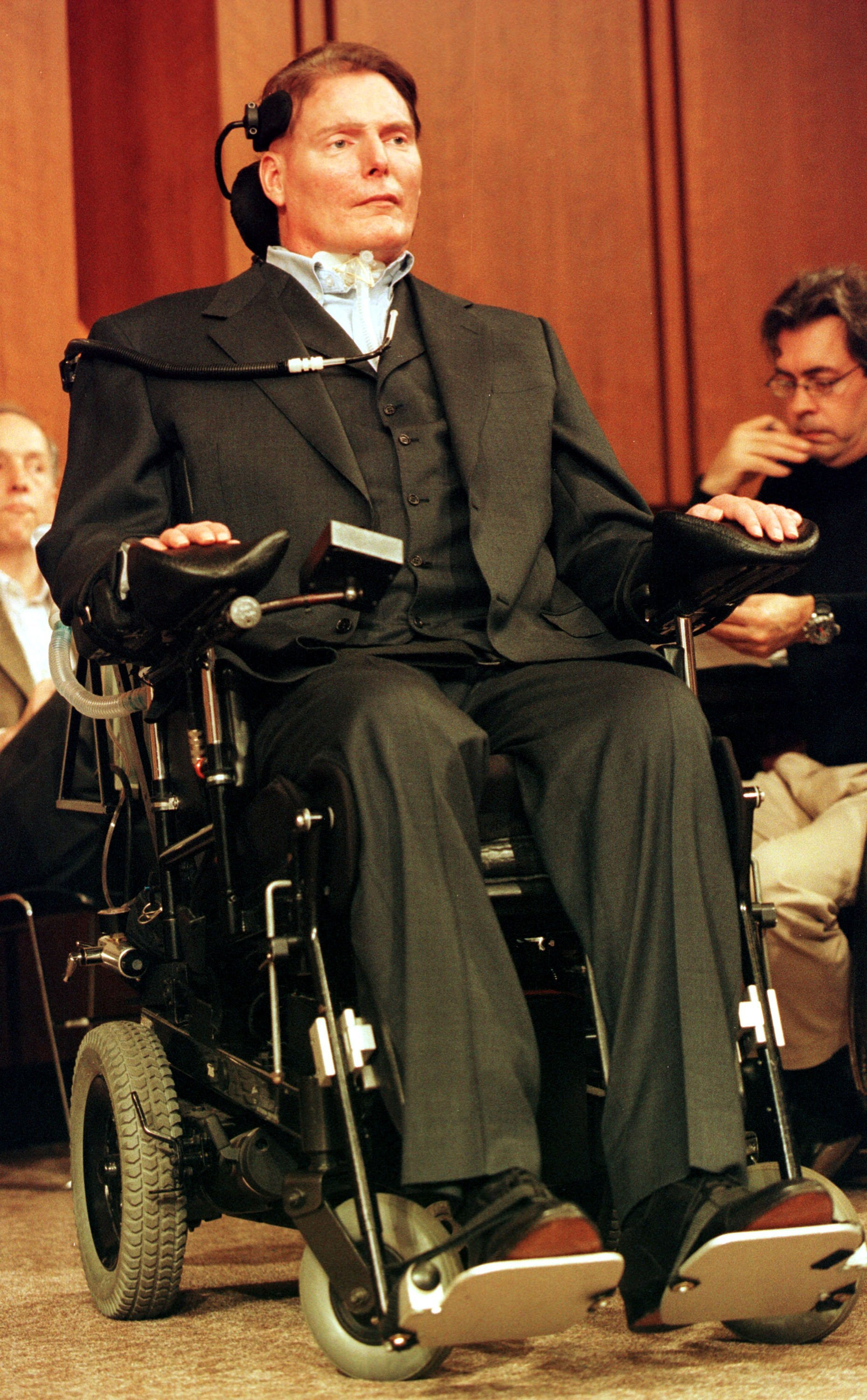Christopher Reeve attends a hearing on stem cell research Washington, D.C. | Photo: Getty Images