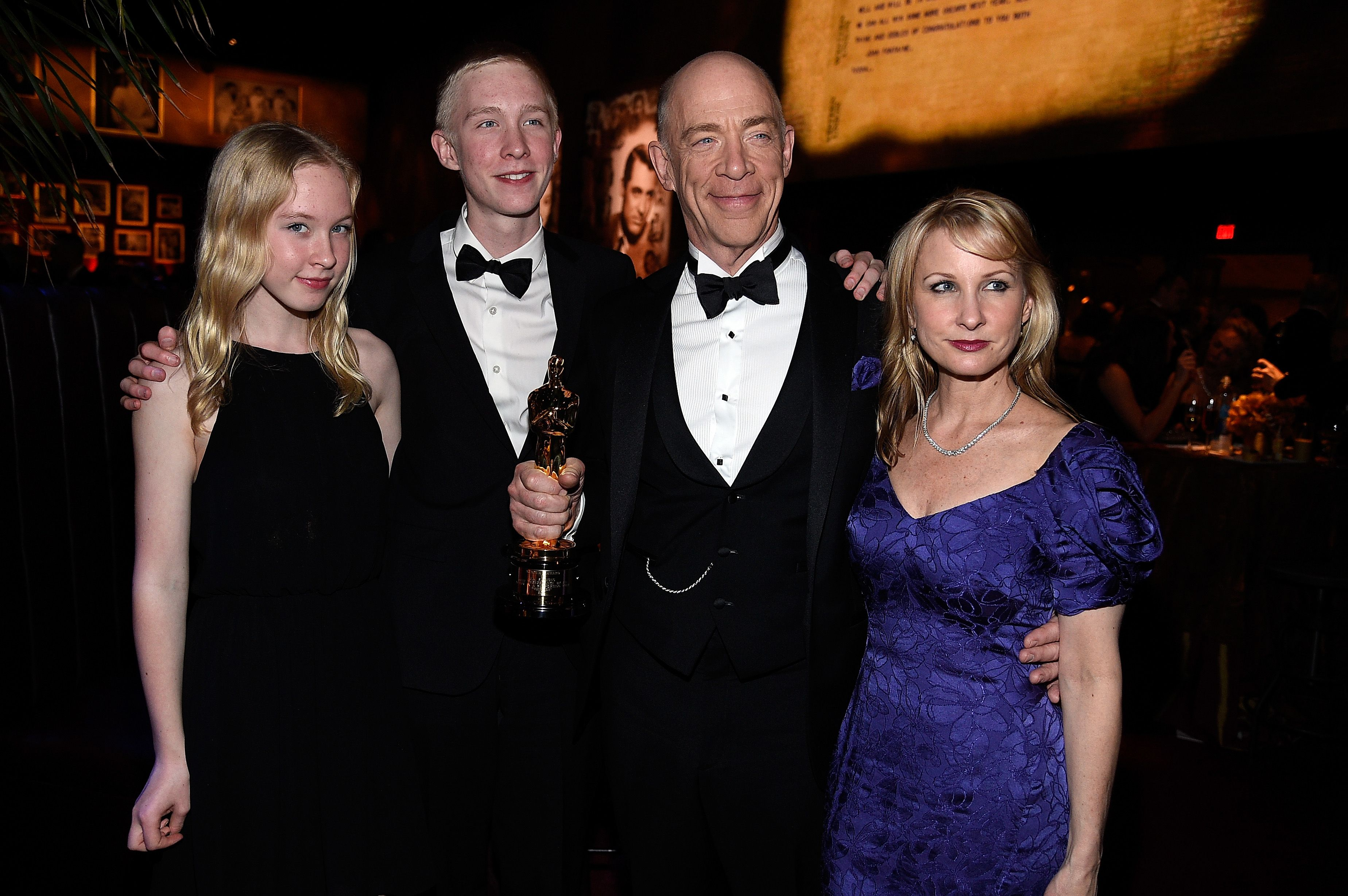 J.K. Simmons and family at the 87th Annual Academy Awards Governors Ball on February 22, 2015 in Hollywood, California | Photo: Getty Images