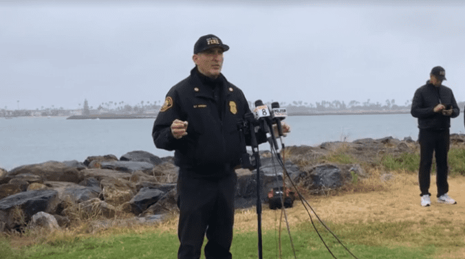 San Diego Police Department officer addressed the public during a press conference on Sunday, May 2, 2021. | Photo: Getty Images