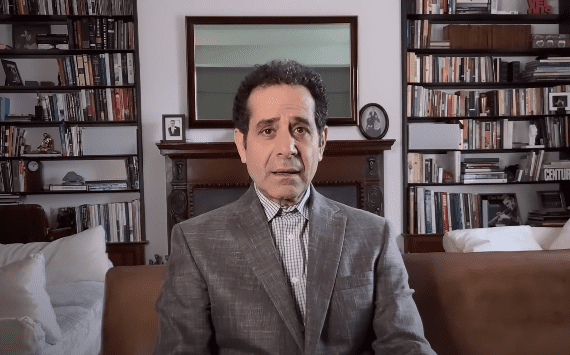 Tony Shalhoub on an episode of the At-Home Variety Show on May 11, 2020. | Source: YouTube/Peacock