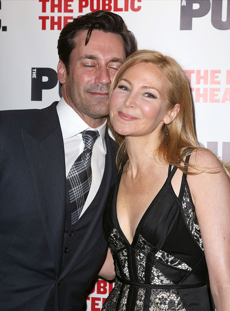 Jon Hamm and Jennifer Westfeldt attend the Opening Night After Party for 'The Library' at The Public Theater on April 15, 2014 | Photo: Getty Images