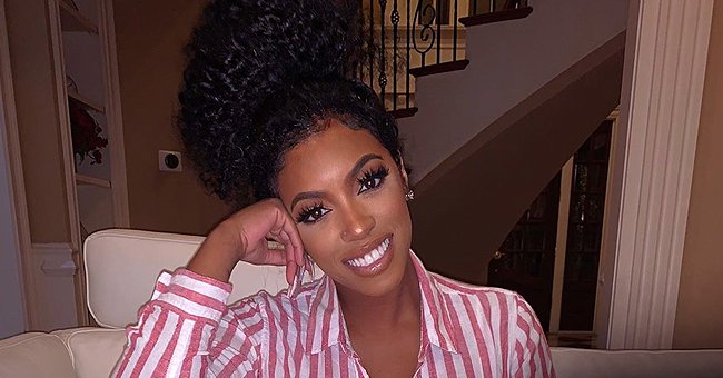 Porsha Williams' Baby Pilar Jhena Melts Hearts Wearing Purple Outfit & Matching Headband in Photos