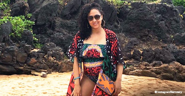 Tia Mowry flaunts her post-baby body in colorful swimsuit during family trip in Hawaii