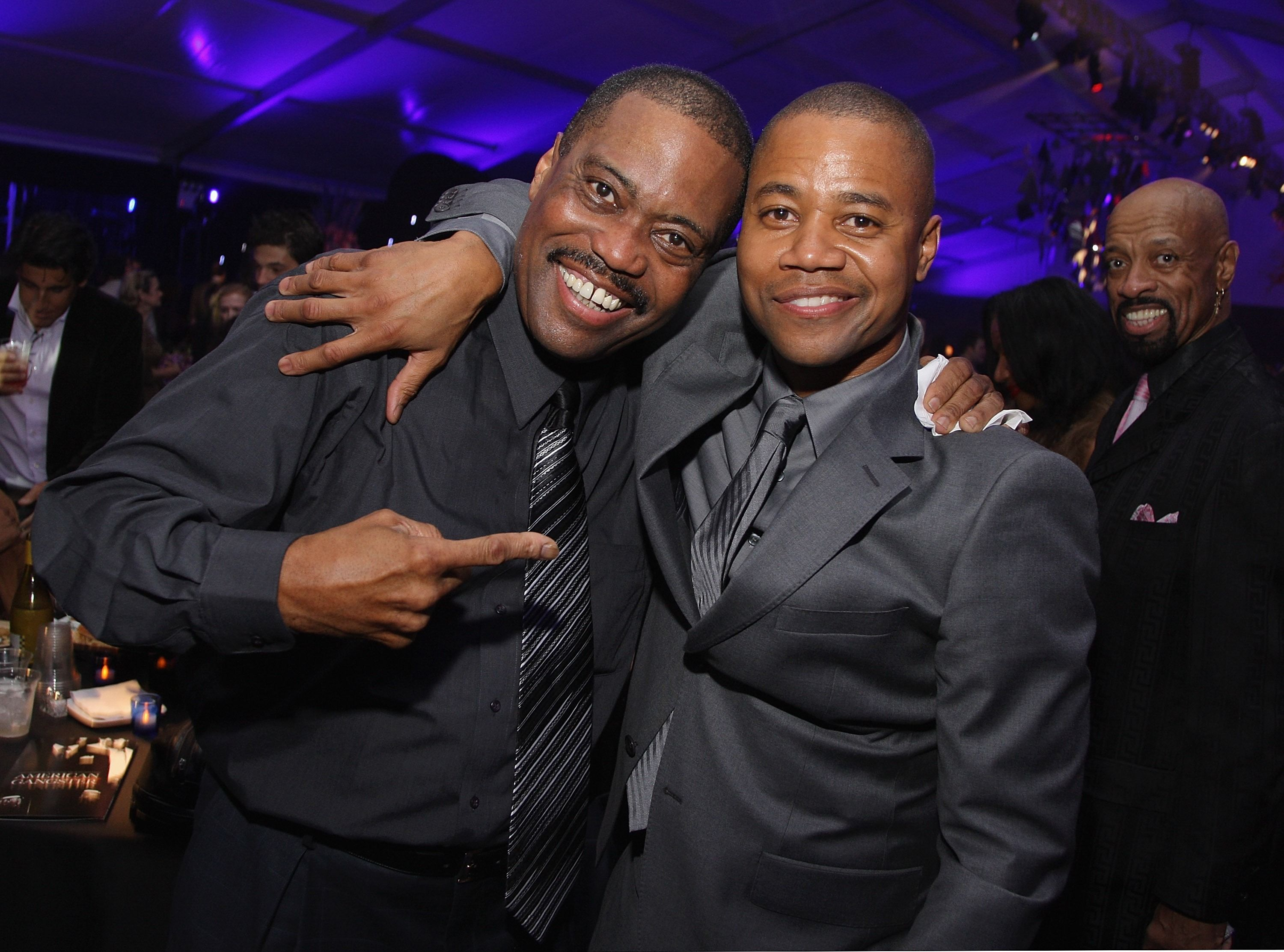 Cuba Gooding Sr. and actor Cuba Gooding Jr.attend the after-party of the world premiere of American Gangster at the Apollo Theater on October 19, 2007 in New York City | Photo: Getty Images