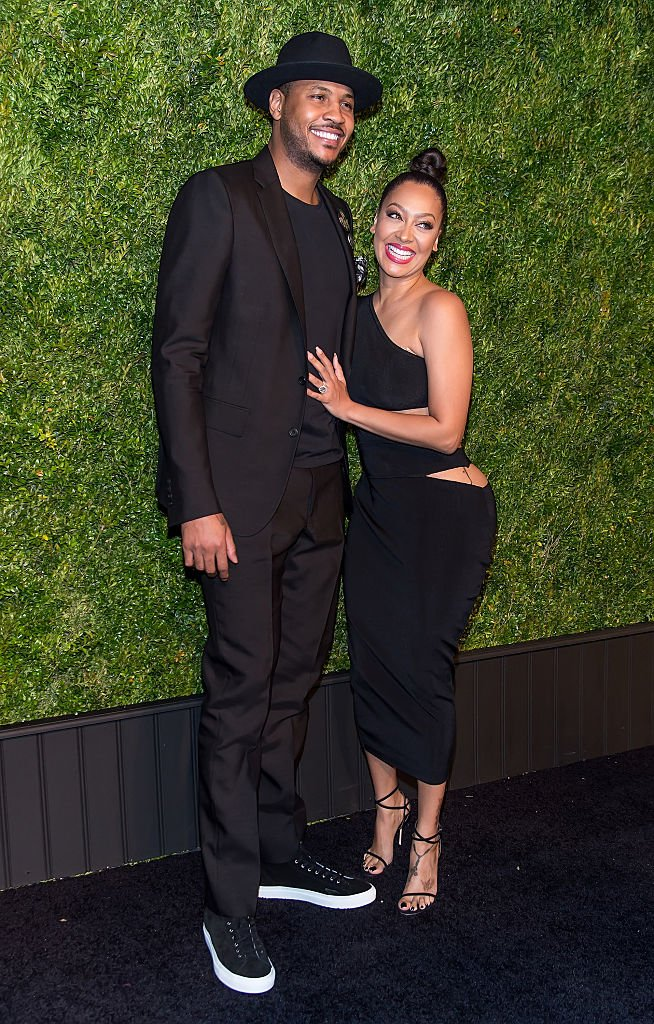 Carmelo Anthony and wife, television Personality La La Anthony attend the 11th Annual Chanel Tribeca Film Festival Artists Dinner at Balthazar on April 18, 2016 | Photo: Getty Images