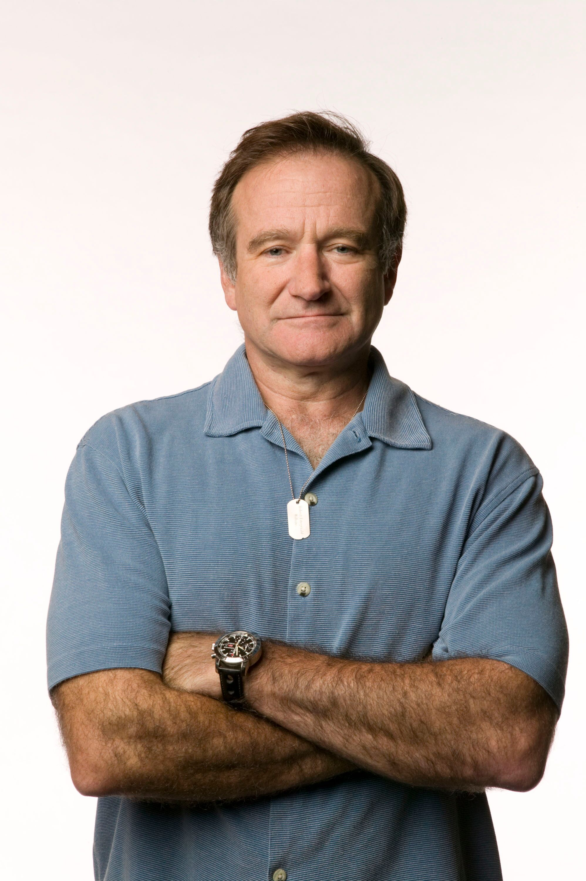 Robin Williams in a promotional portrait for the Search for the Cause campaign. | Source: Getty Images