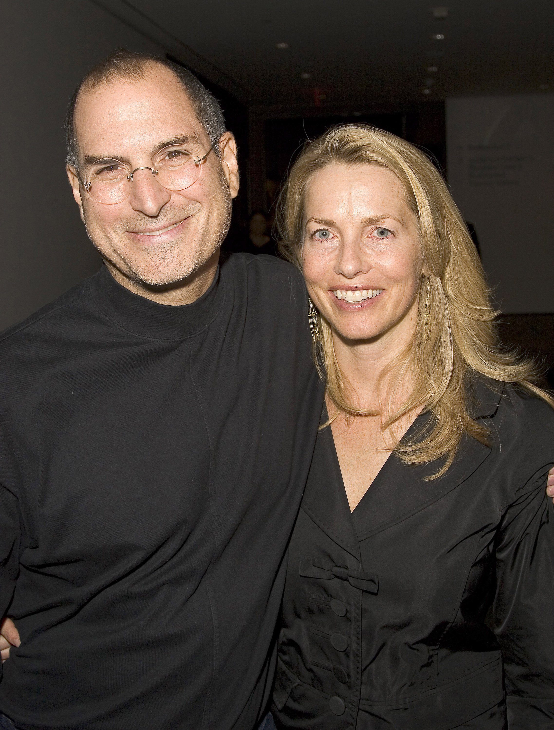 Steve Jobs and Laurene Powell during Pixar Exhibit Launch at The Museum of Modern Art on December 13, 2005 | Photo: Getty Images