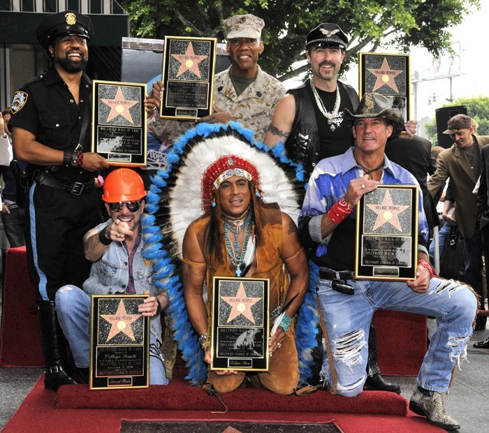 Village People receive their star on the Hollywood Walk of Fame with Ray Simpson as lead vocalist.   Photo: Wikimedia Commons Images