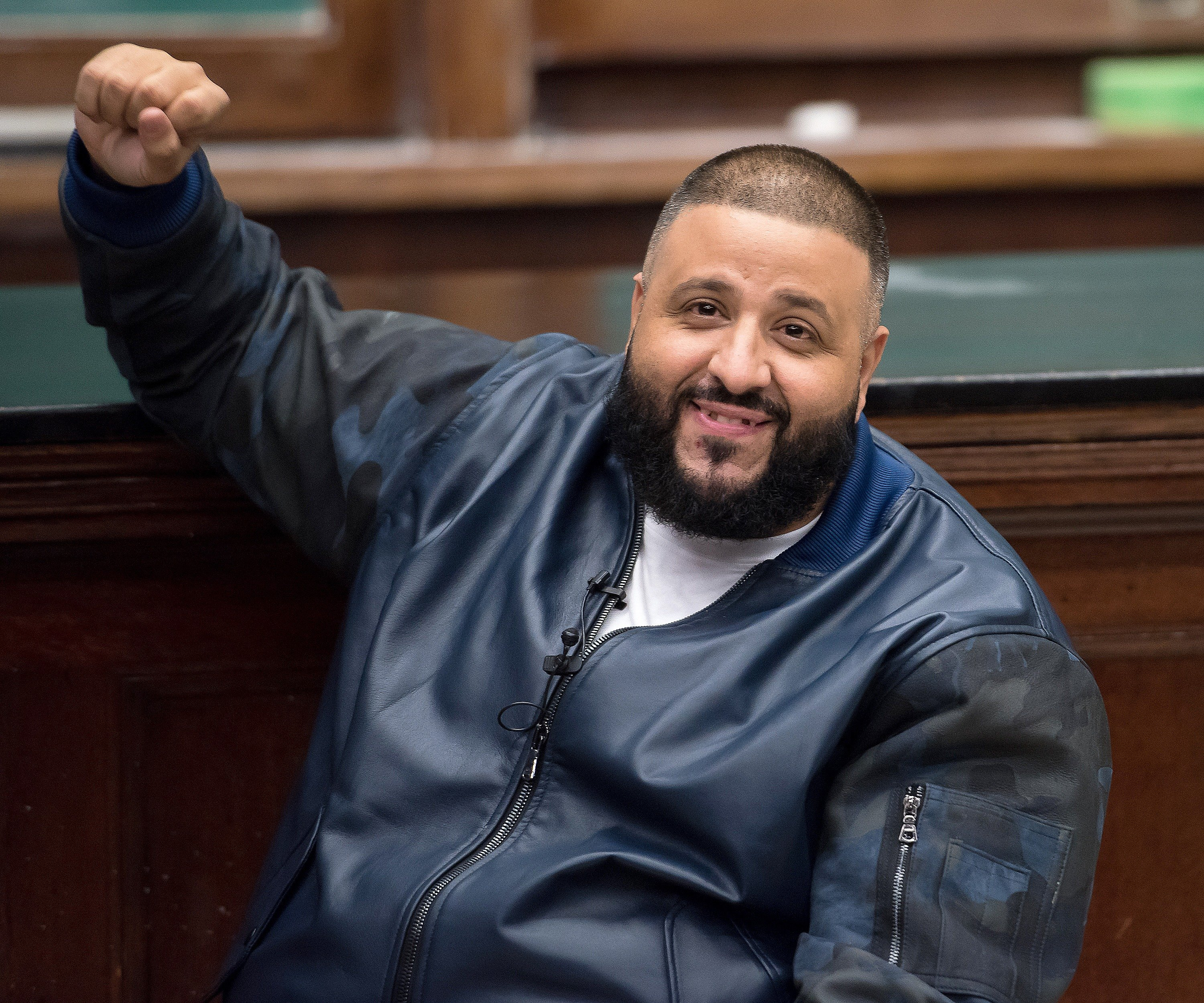"""DJ Khaled at the """"Keys To Success: A Conversation With Arianna Huffington"""" at Columbia University on December 8, 2016 in New York City.  Source: Getty Images"""