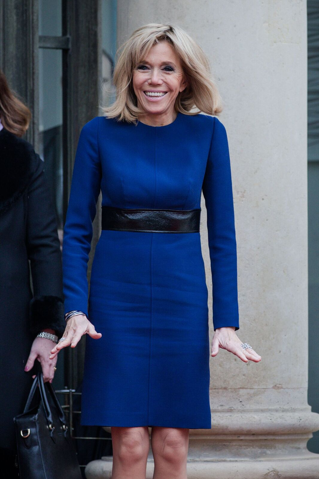 Brigitte Macron à l'Elysée pour une réunion le 19 mars 2018 à Paris, France. | Photo : Getty Images
