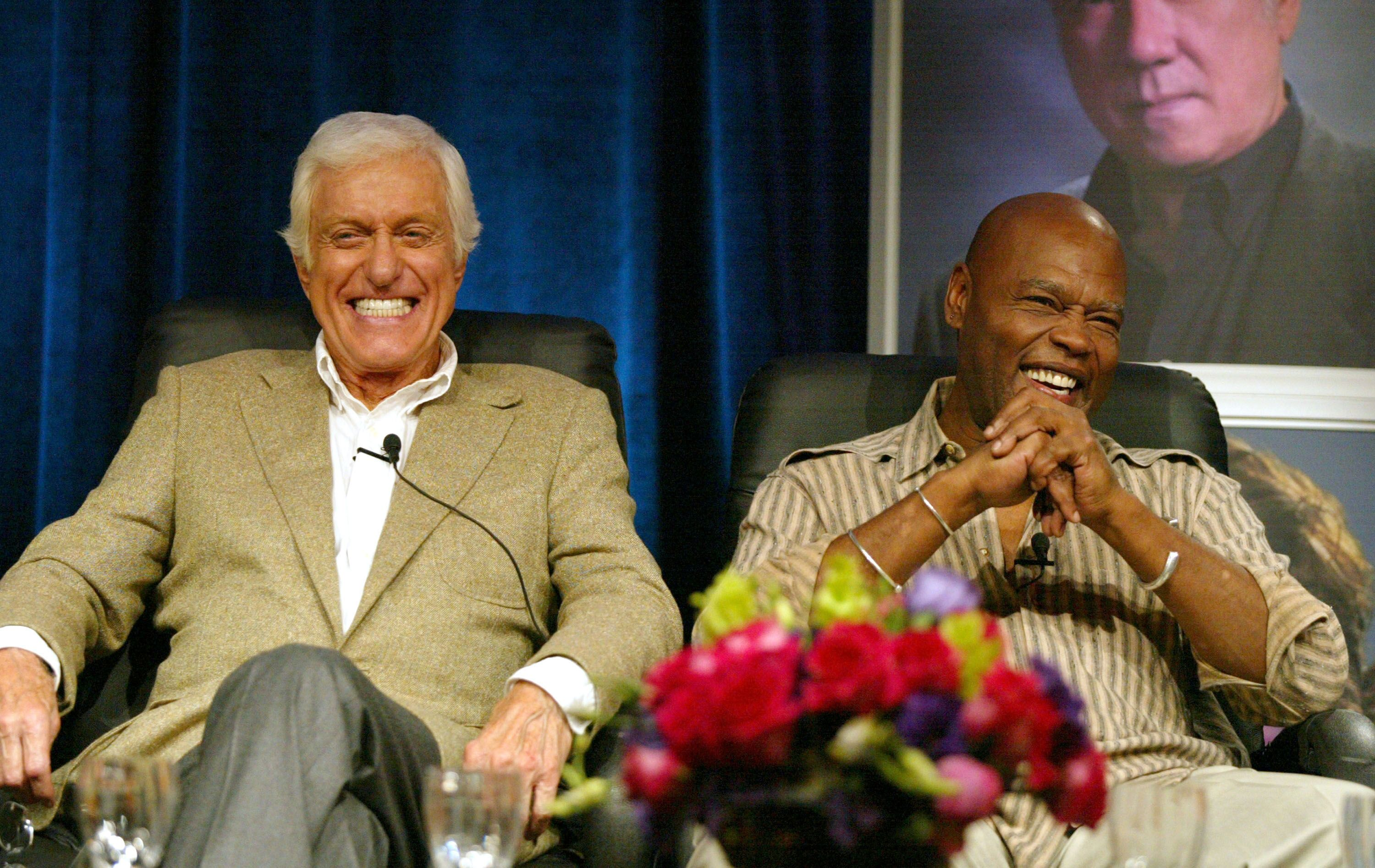 Dick Van Dyke and GeorgStanford Brown at a Hallmark Channel presentation on July 16, 2005 in Beverly Hills | Photo: Getty Images