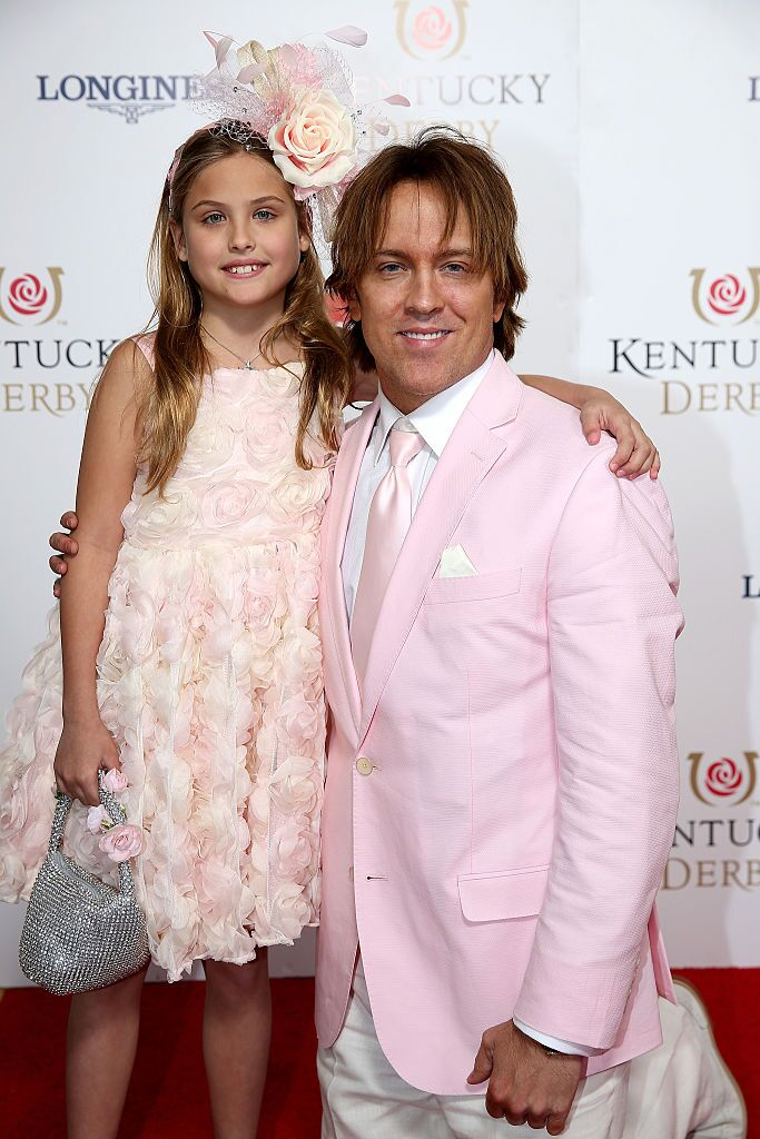 Dannielynn Birkhead and Larry Birkhead attend the 141st Kentucky Derby. | Source: Getty Images