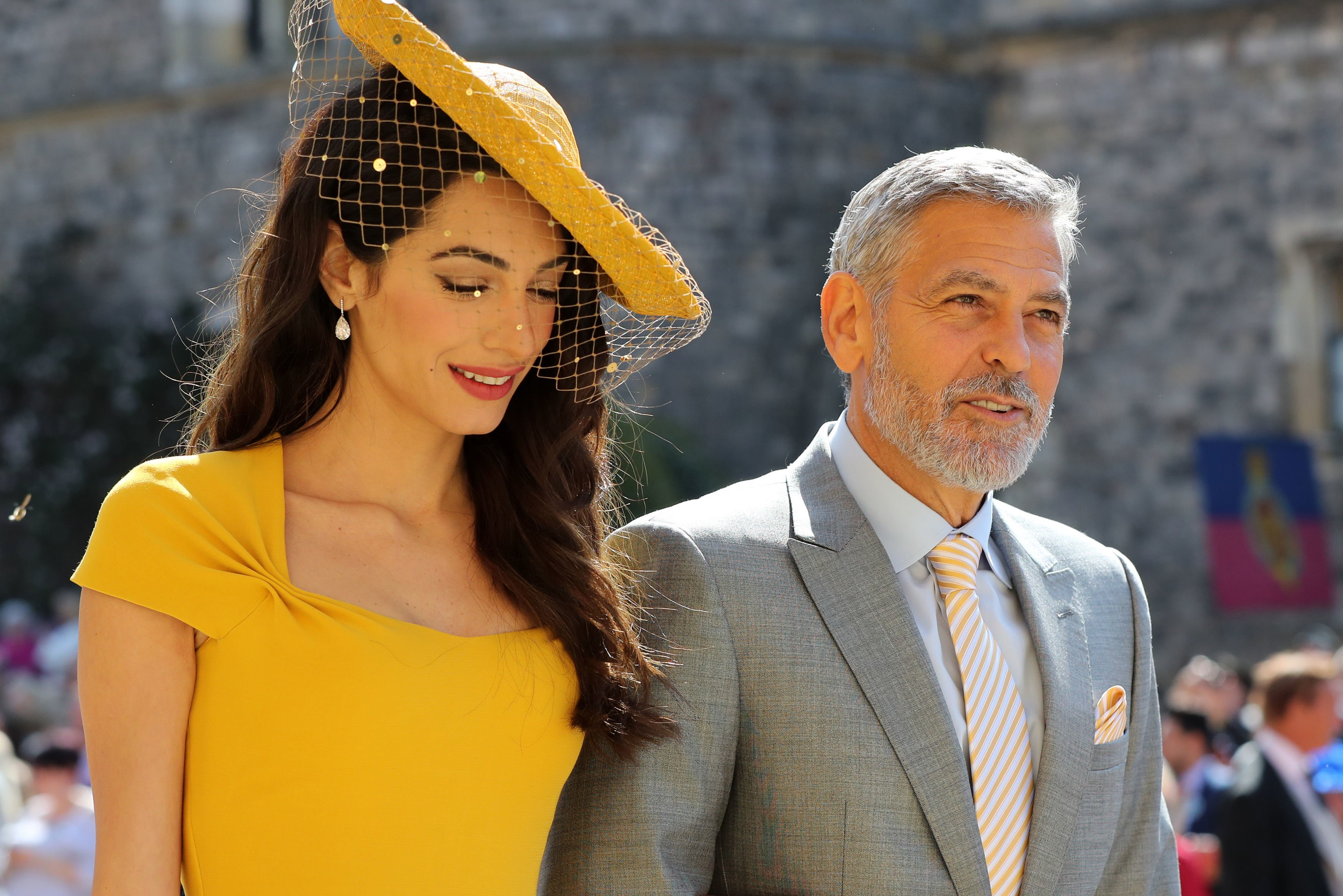 George and Amal Clooney attend the royal wedding of Prince Harry and Meghan Markle in April 2018 | Photo: Getty Images