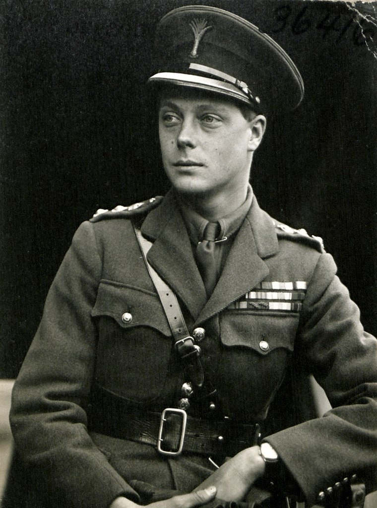Edward VIII in uniform as colonel of the Welsh Guards in 1919 | Source: Wikimedia Commons