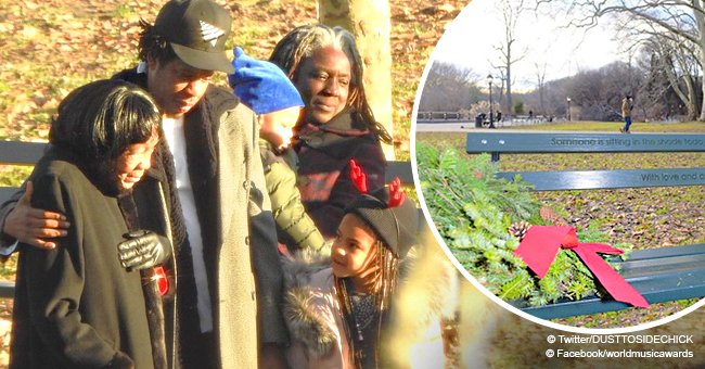 Jay-Z and Beyonce gift his grandmother an engraved bench in Prospect Park