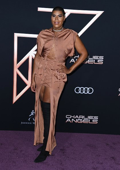 "EJ Johnson arrives at the Premiere Of Columbia Pictures' ""Charlies Angels"" at Westwood Regency Theater in Los Angeles 