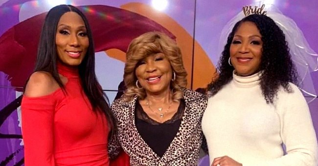 Evelyn Braxton from 'Braxton Family Values' Poses in Animal-Print Jacket Next to Daughters Trina and Towanda